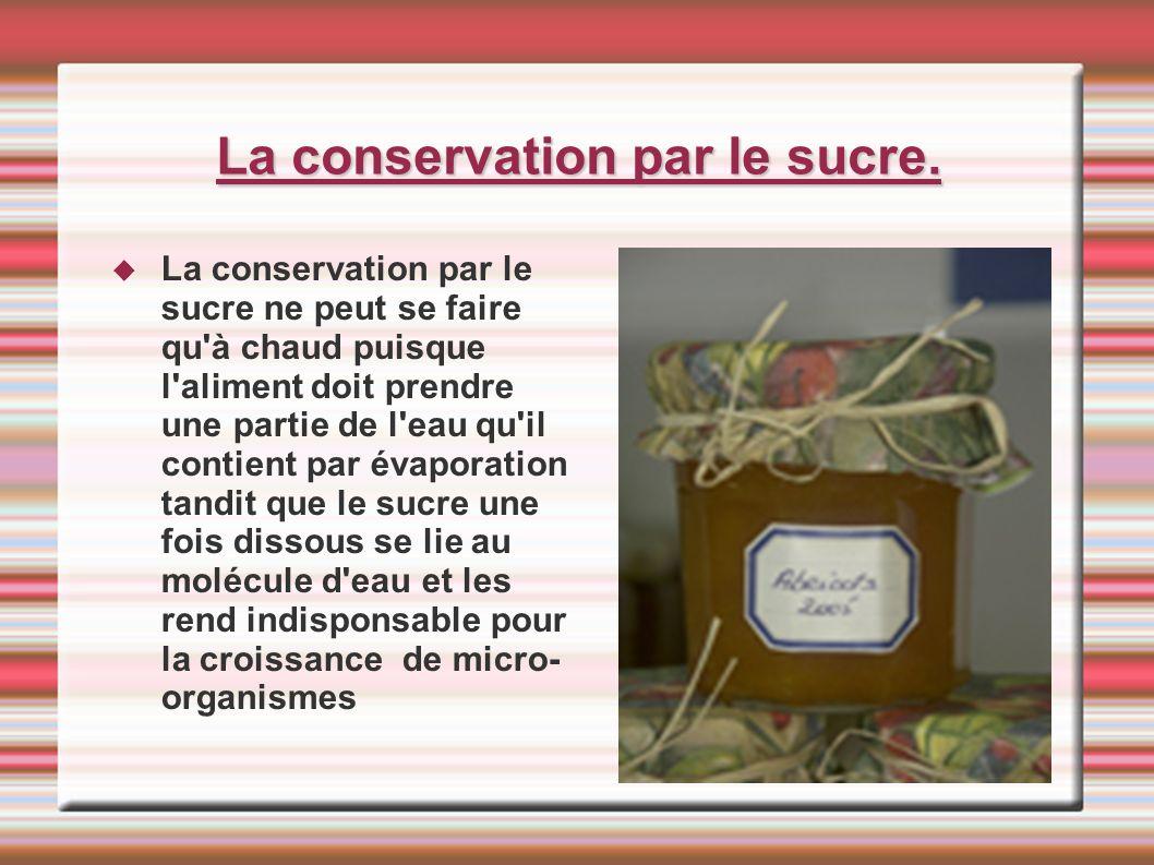 La conservation par le sucre.