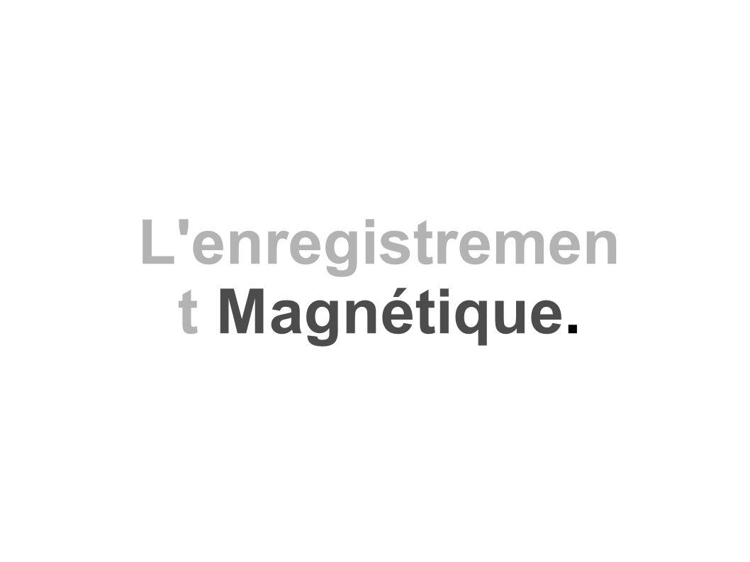 L enregistrement Magnétique.
