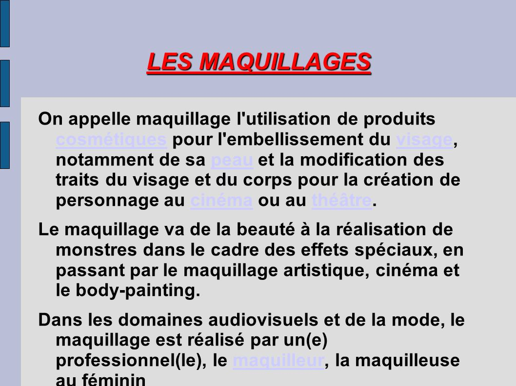LES MAQUILLAGES