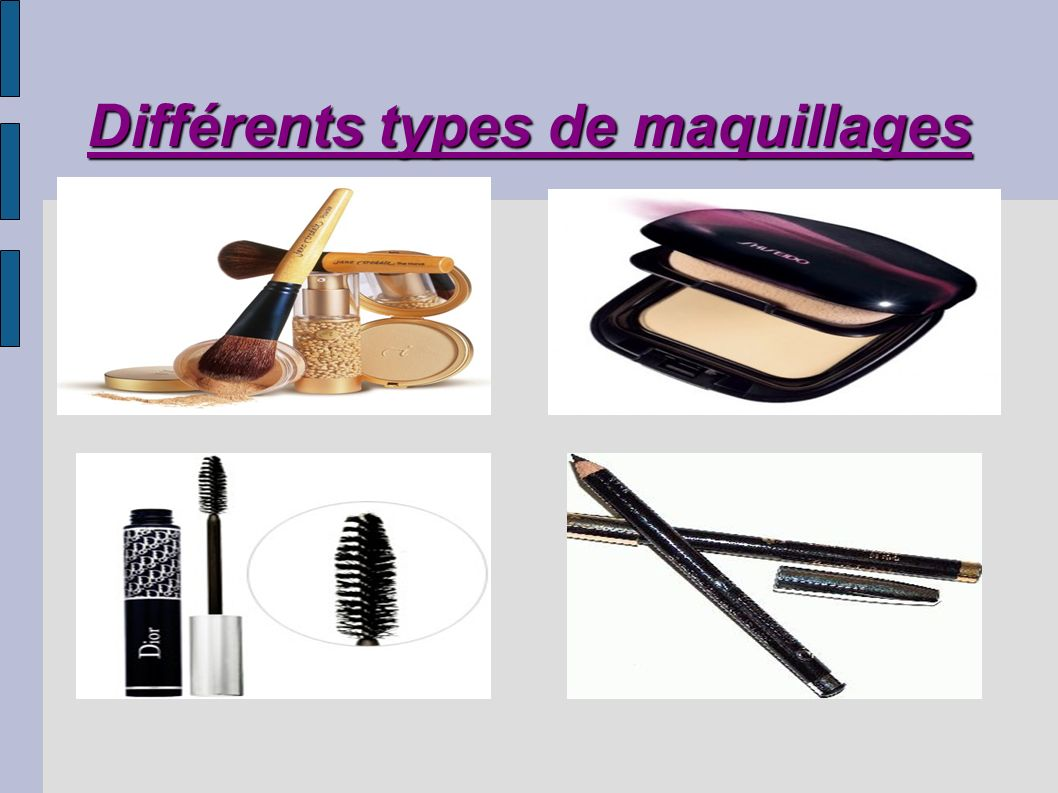 Différents types de maquillages