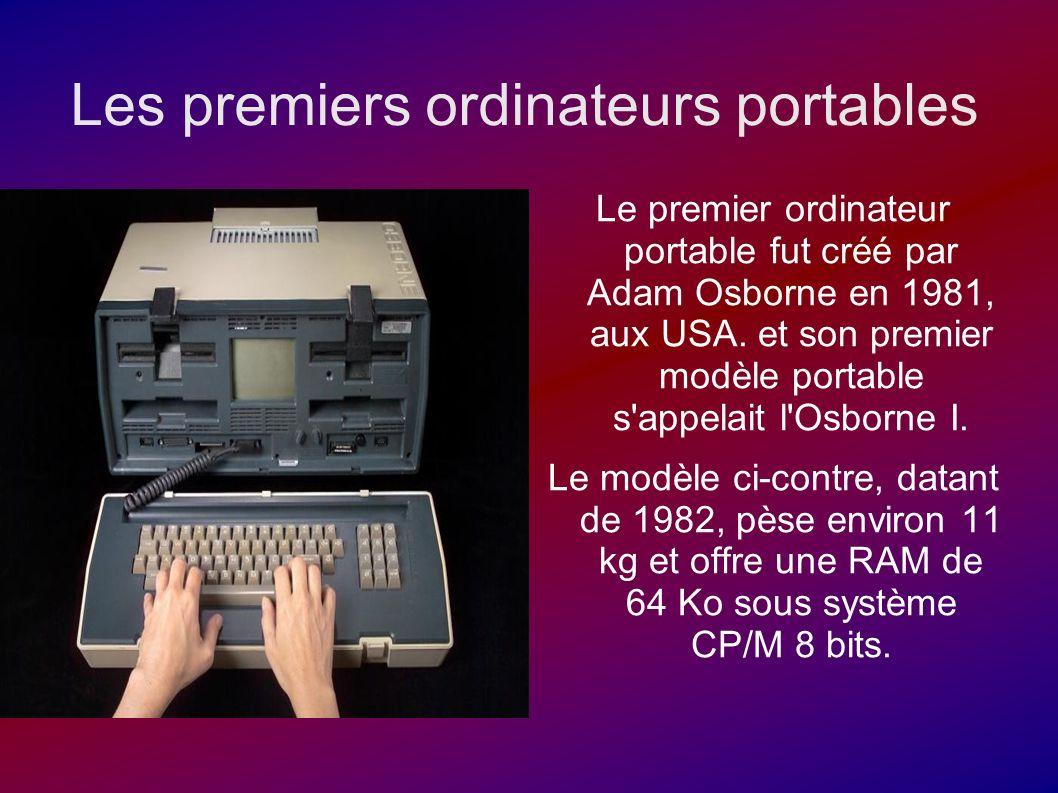 Les premiers ordinateurs portables