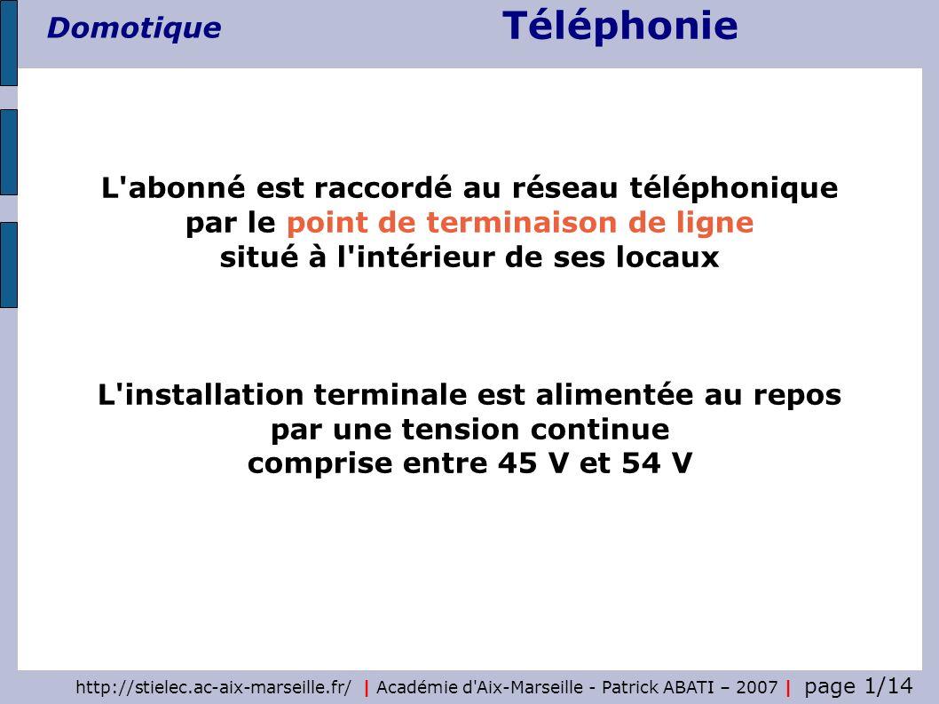 L abonné est raccordé au réseau téléphonique par le point de terminaison de ligne situé à l intérieur de ses locaux