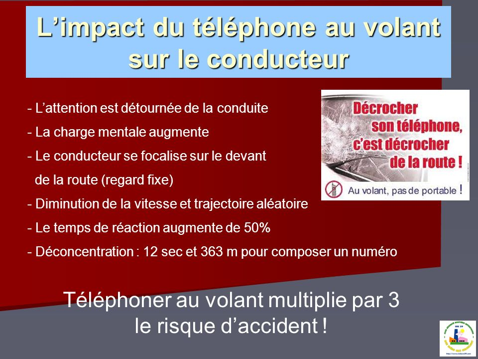 L'impact du téléphone au volant sur le conducteur