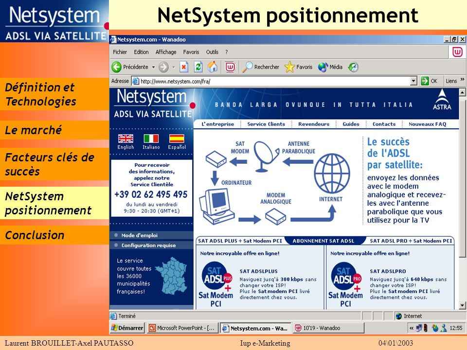 NetSystem positionnement