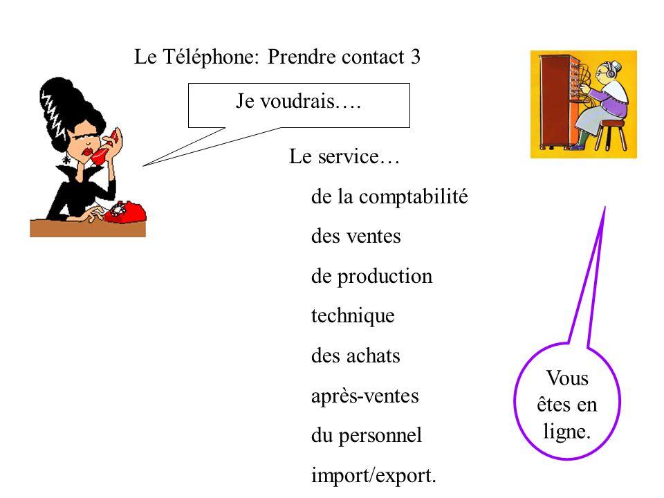 Le Téléphone: Prendre contact 3