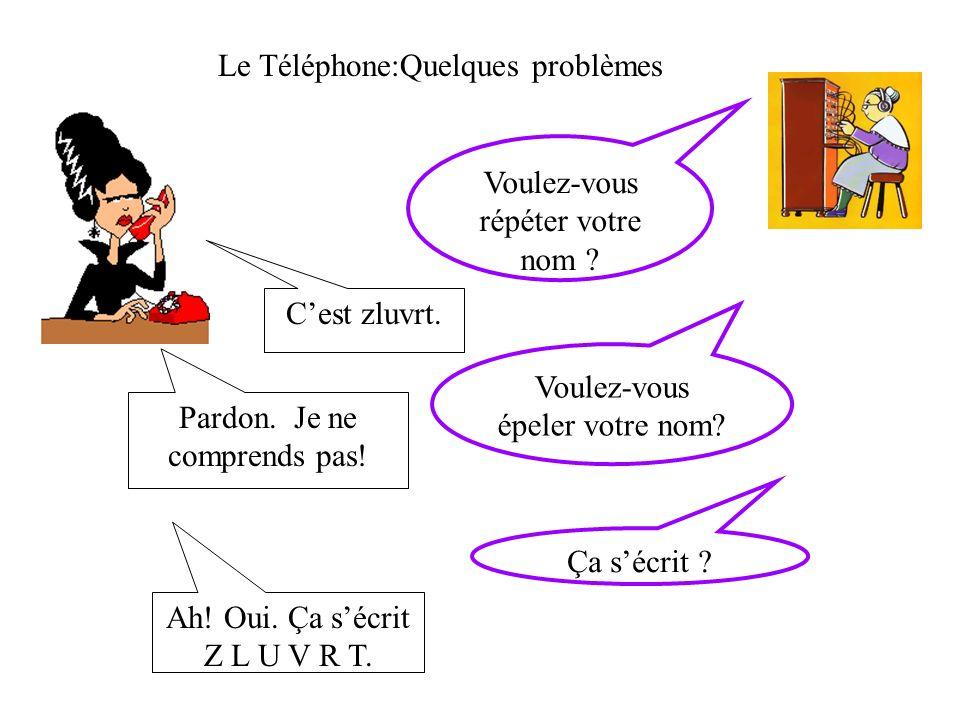 Le Téléphone:Quelques problèmes