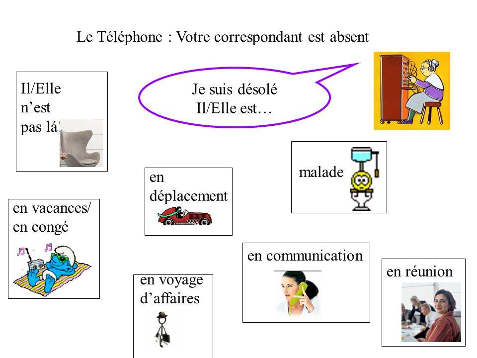 Le Téléphone : Votre correspondant est absent