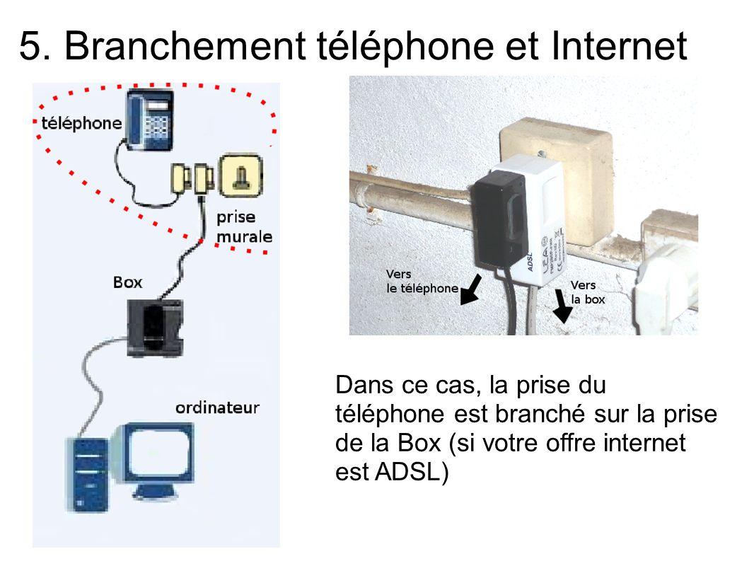 5. Branchement téléphone et Internet