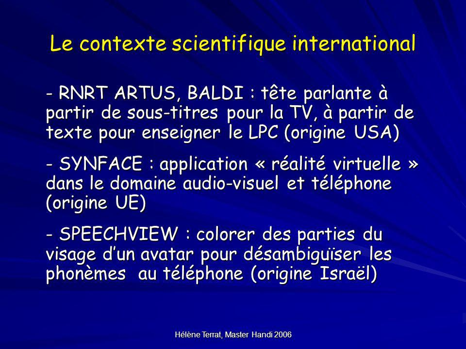 Le contexte scientifique international