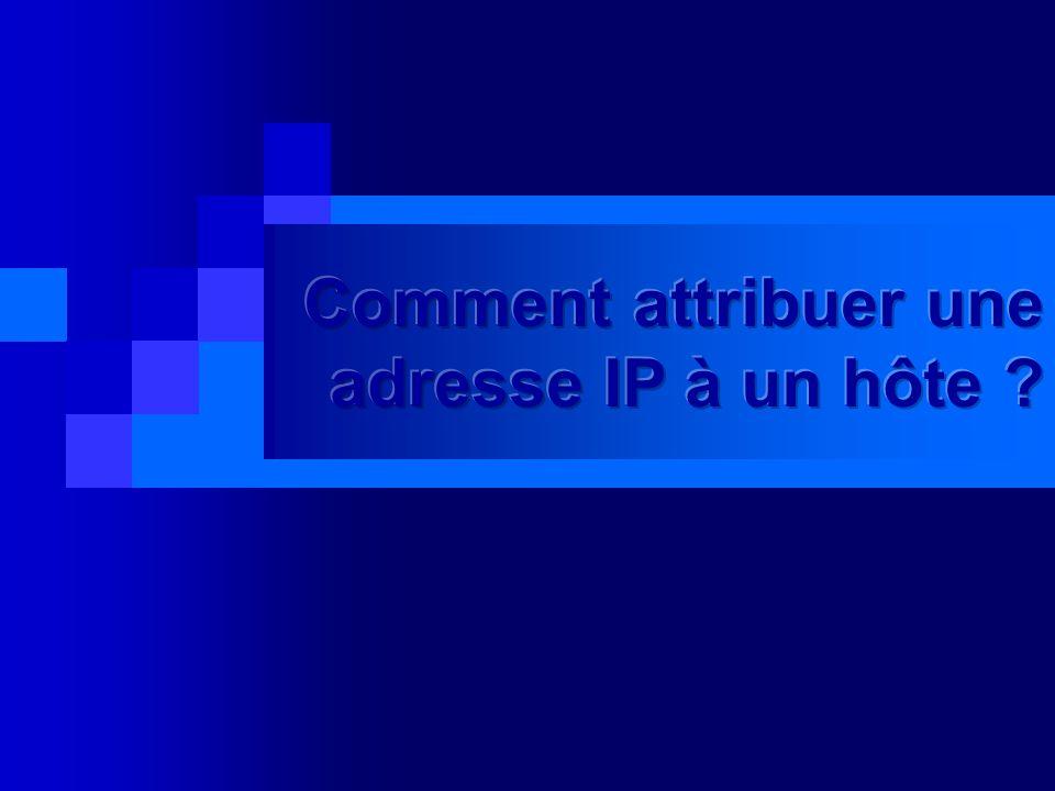 Comment attribuer une adresse IP à un hôte
