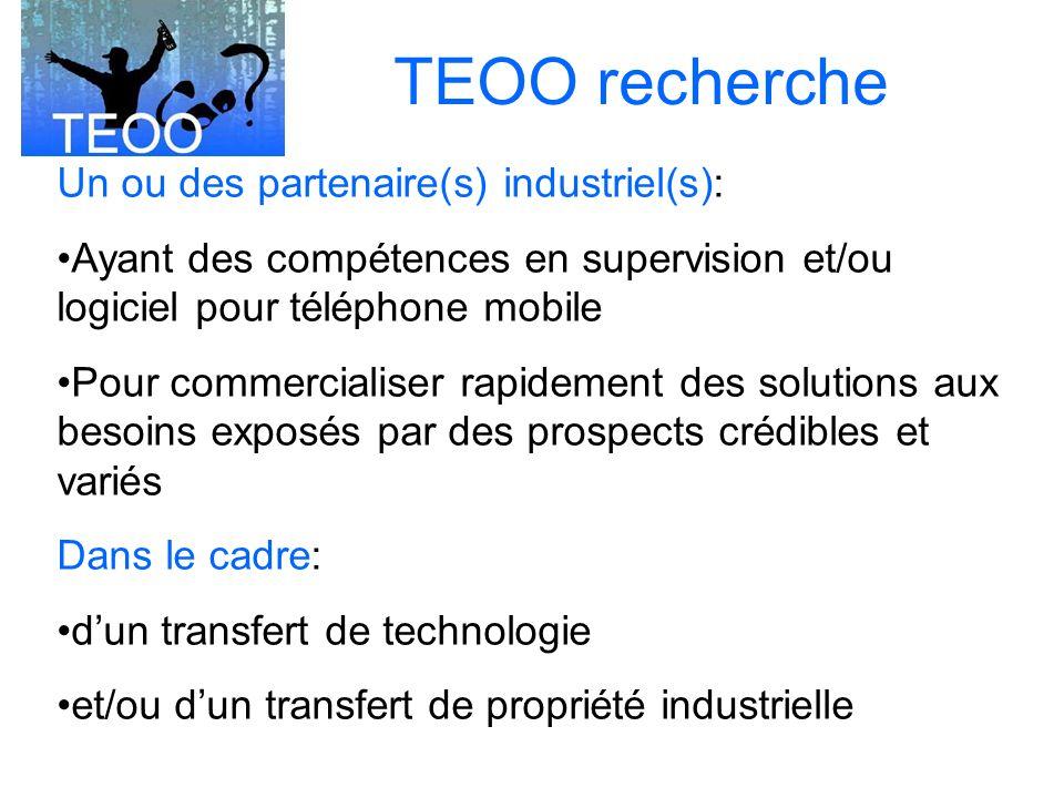 TEOO recherche Un ou des partenaire(s) industriel(s):