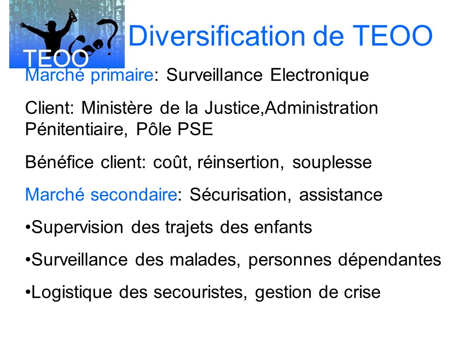 Diversification de TEOO