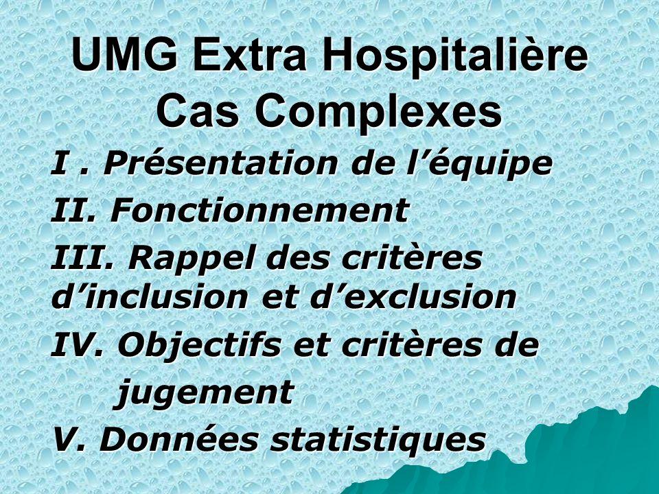 UMG Extra Hospitalière Cas Complexes