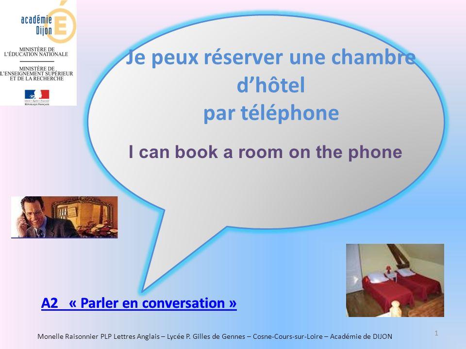 Je peux r server une chambre d h tel par t l phone ppt for Reserver un chambre