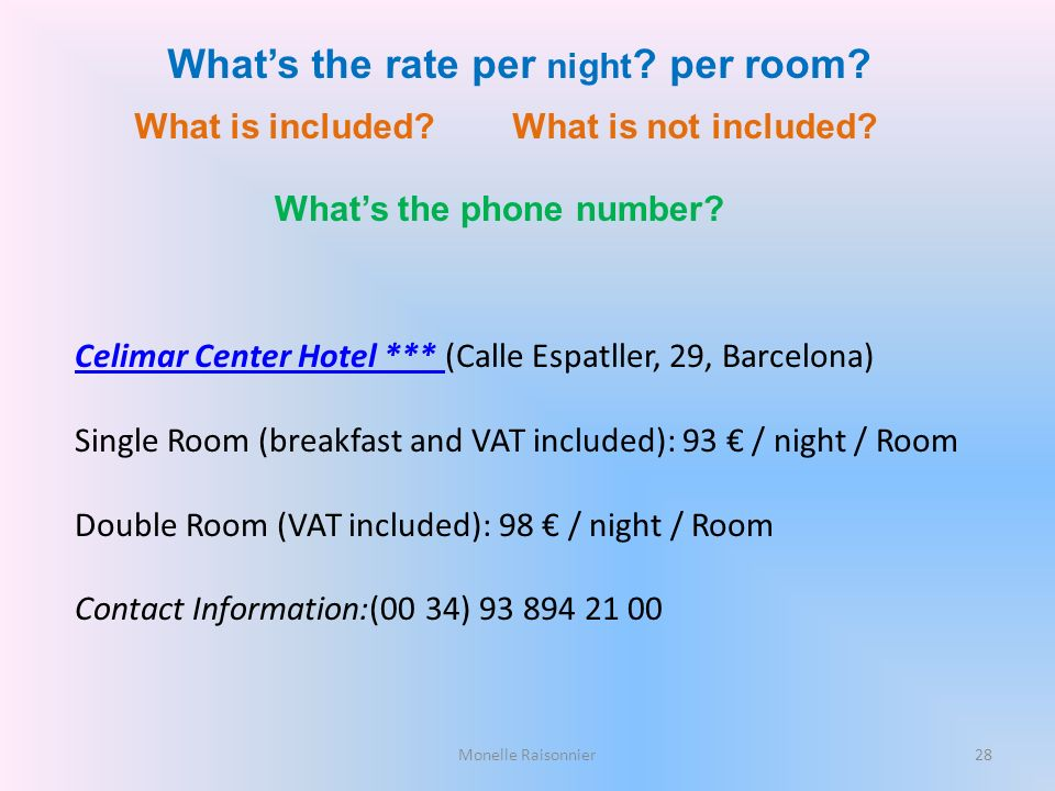 What's the rate per night per room