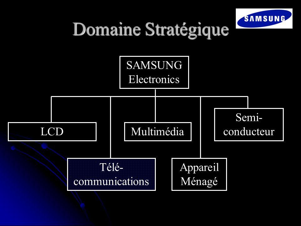 Domaine Stratégique SAMSUNG Electronics Semi-conducteur LCD Multimédia