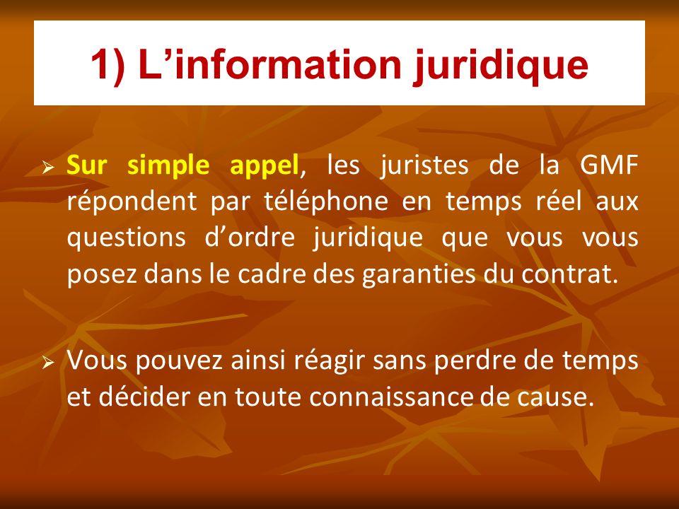 1) L'information juridique