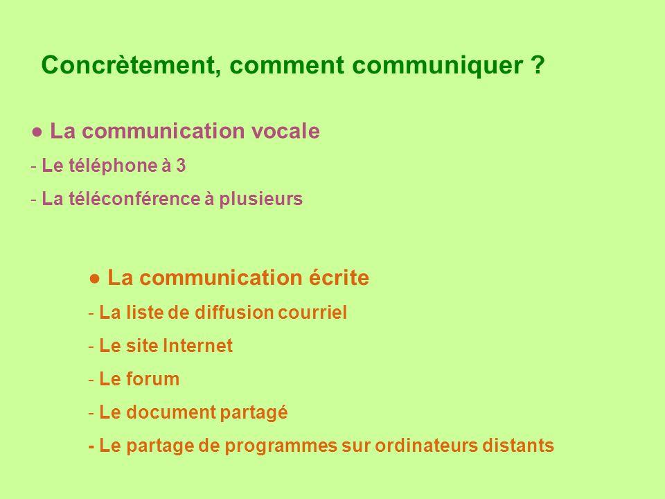 Concrètement, comment communiquer