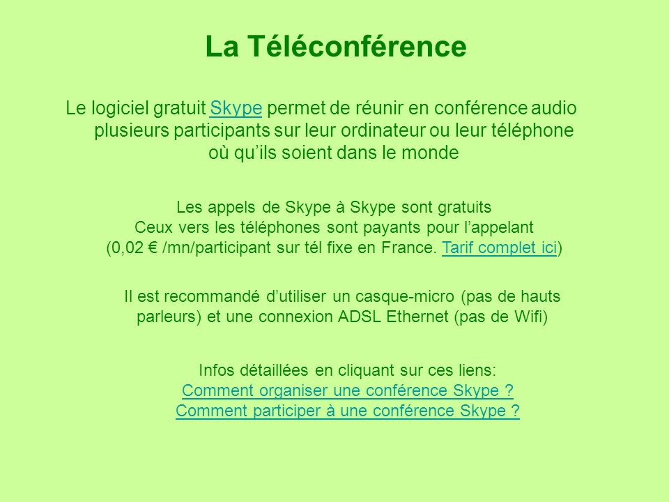 La Téléconférence