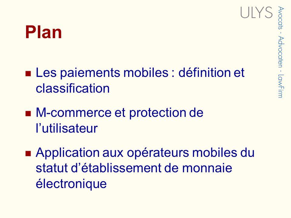 Plan Les paiements mobiles : définition et classification