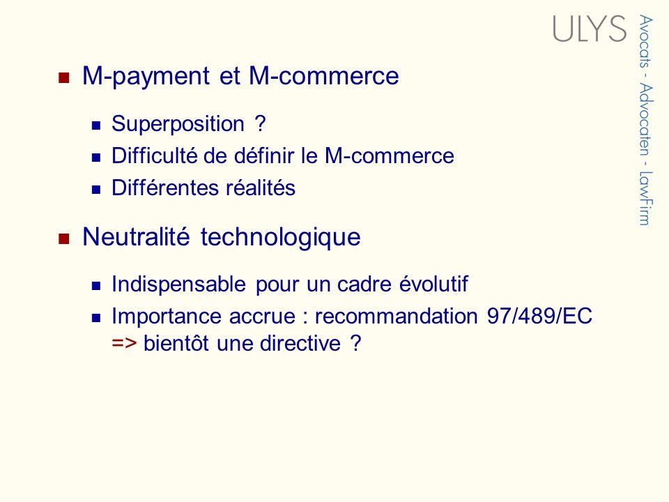 M-payment et M-commerce