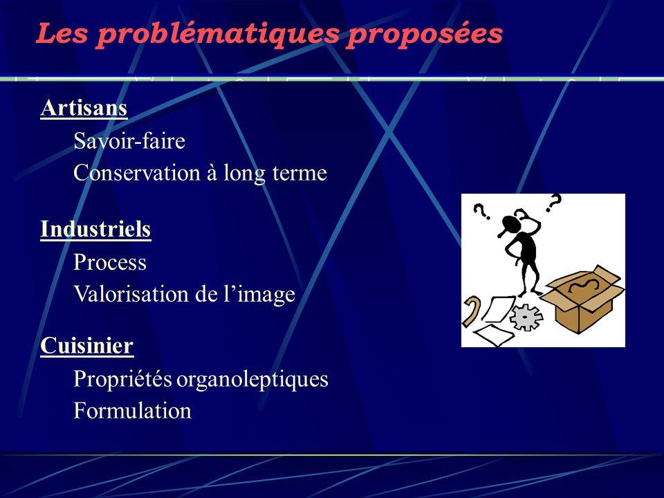 Les problématiques proposées