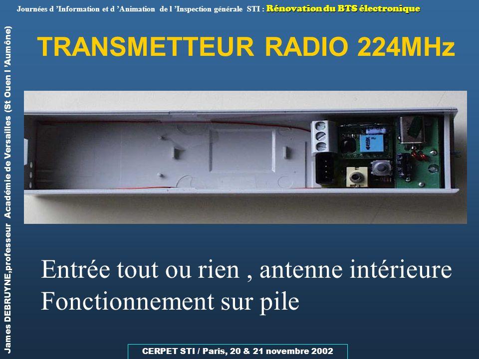 TRANSMETTEUR RADIO 224MHz