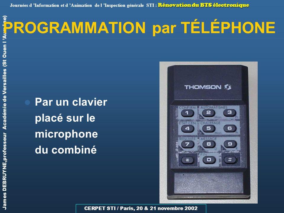 PROGRAMMATION par TÉLÉPHONE