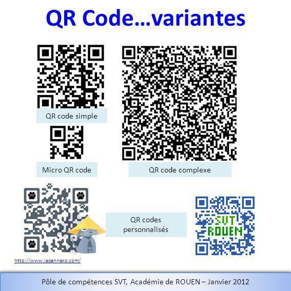 QR Code…variantes QR code simple Micro QR code QR code complexe