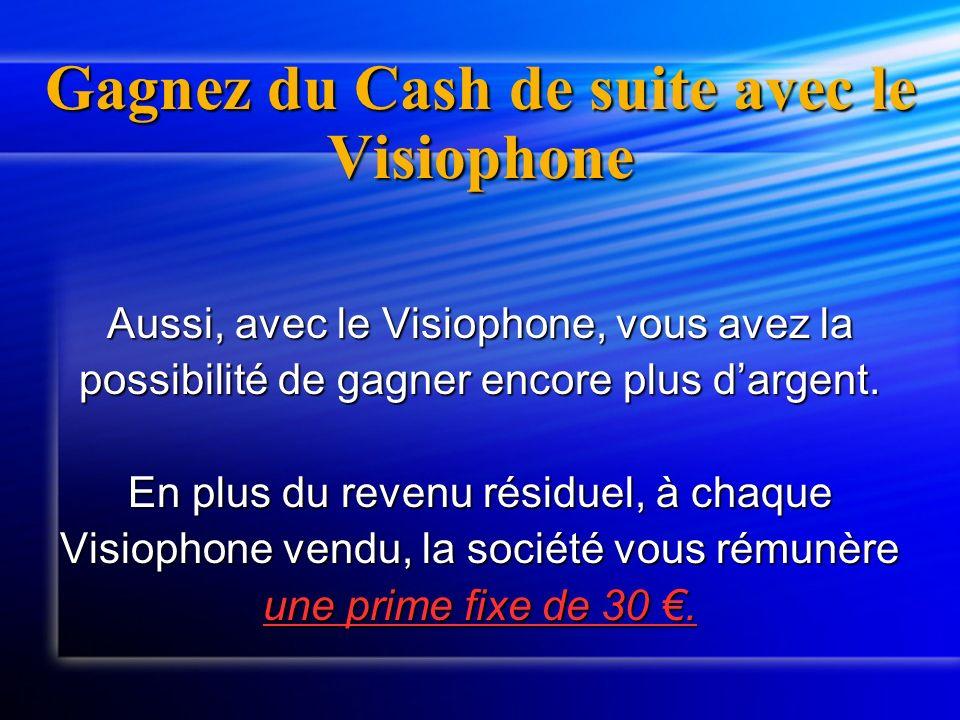 Gagnez du Cash de suite avec le Visiophone