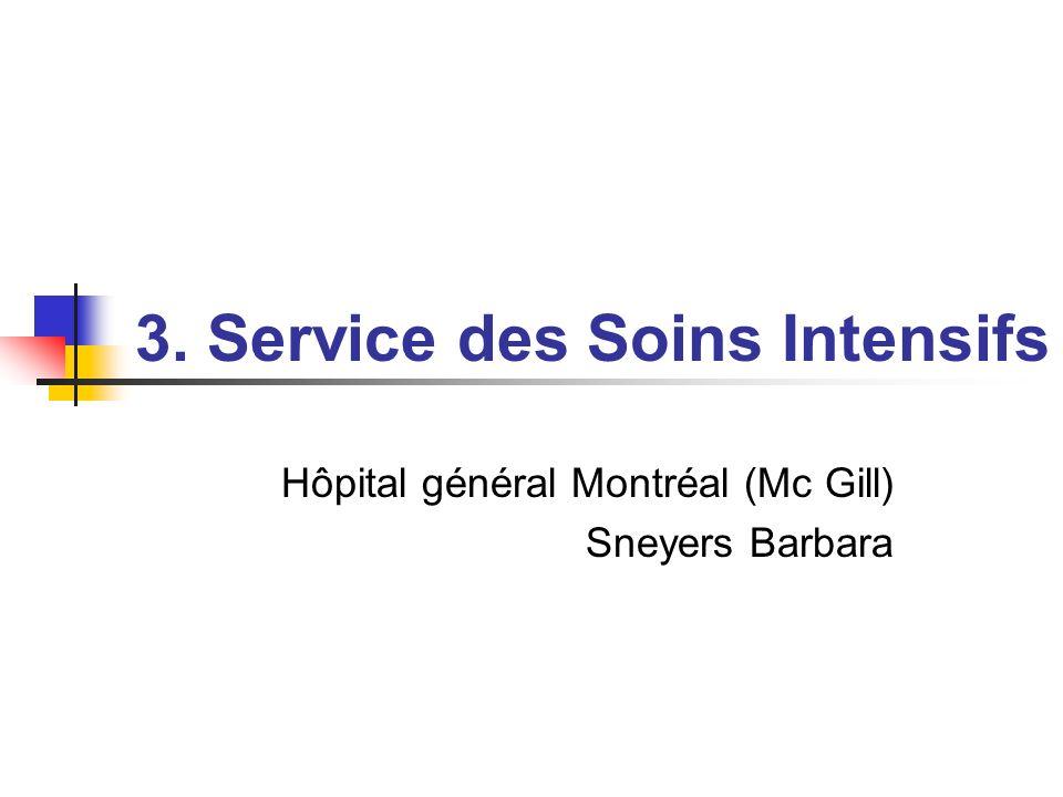 3. Service des Soins Intensifs