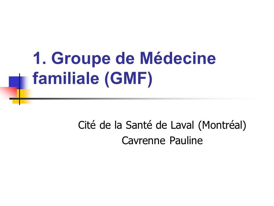 1. Groupe de Médecine familiale (GMF)