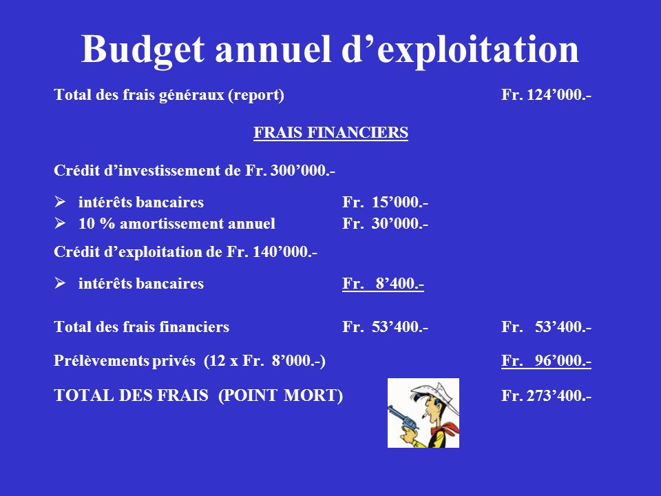 Budget annuel d'exploitation