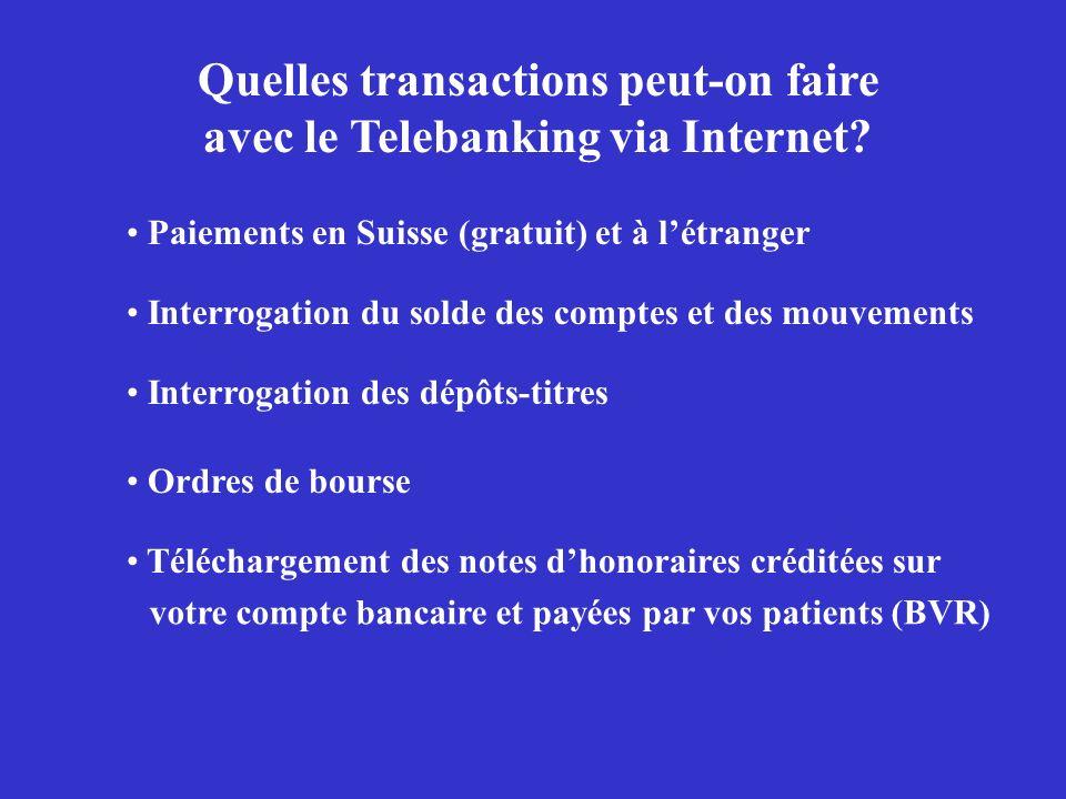 Quelles transactions peut-on faire avec le Telebanking via Internet