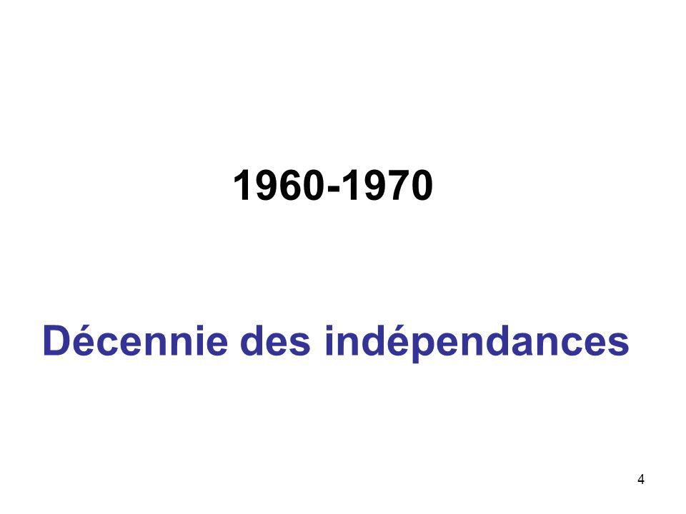 1960-1970 Décennie des indépendances