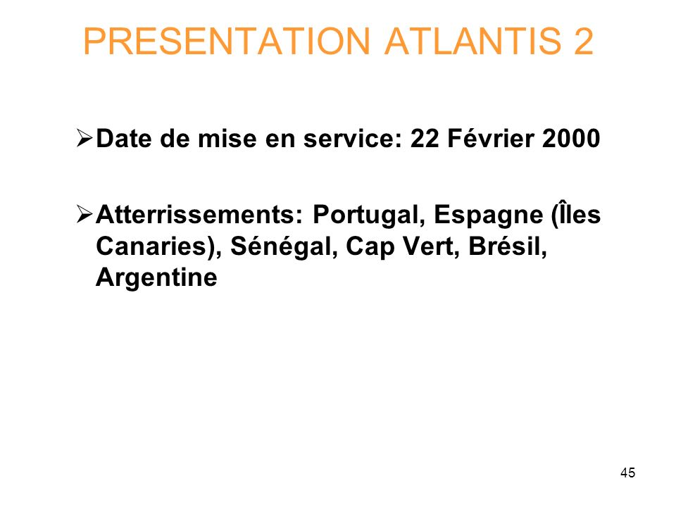 PRESENTATION ATLANTIS 2