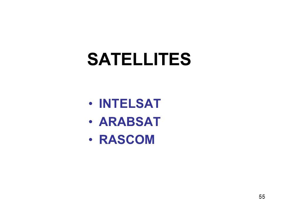 SATELLITES INTELSAT ARABSAT RASCOM