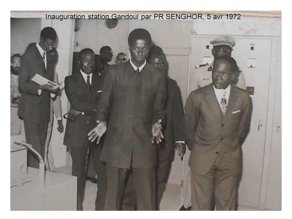 Inauguration station Gandoul par PR SENGHOR, 5 avr 1972