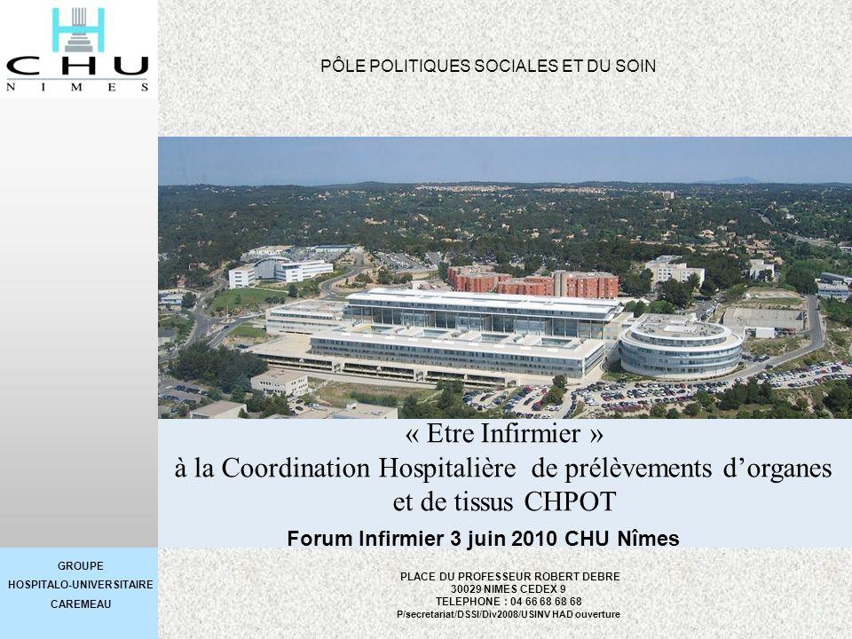 Forum Infirmier 3 juin 2010 CHU Nîmes