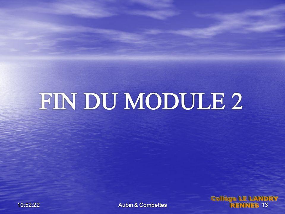 FIN DU MODULE 2 06:59:33 Aubin & Combettes Collège LE LANDRY RENNES