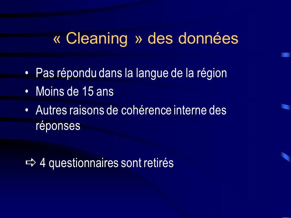 « Cleaning » des données