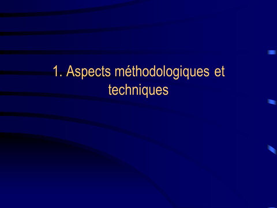 1. Aspects méthodologiques et techniques
