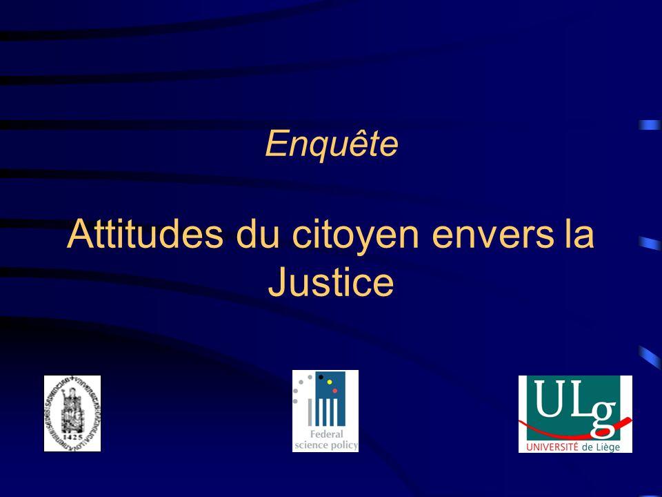 Enquête Attitudes du citoyen envers la Justice