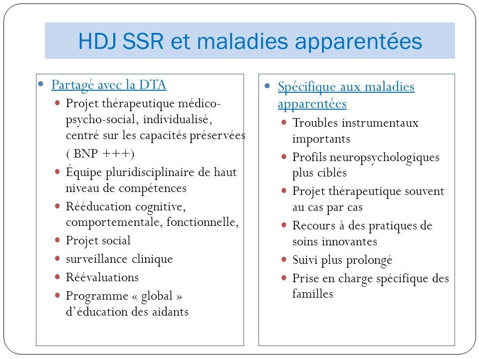 HDJ SSR et maladies apparentées