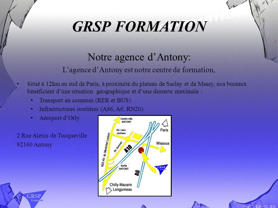 GRSP FORMATION Notre agence d'Antony: