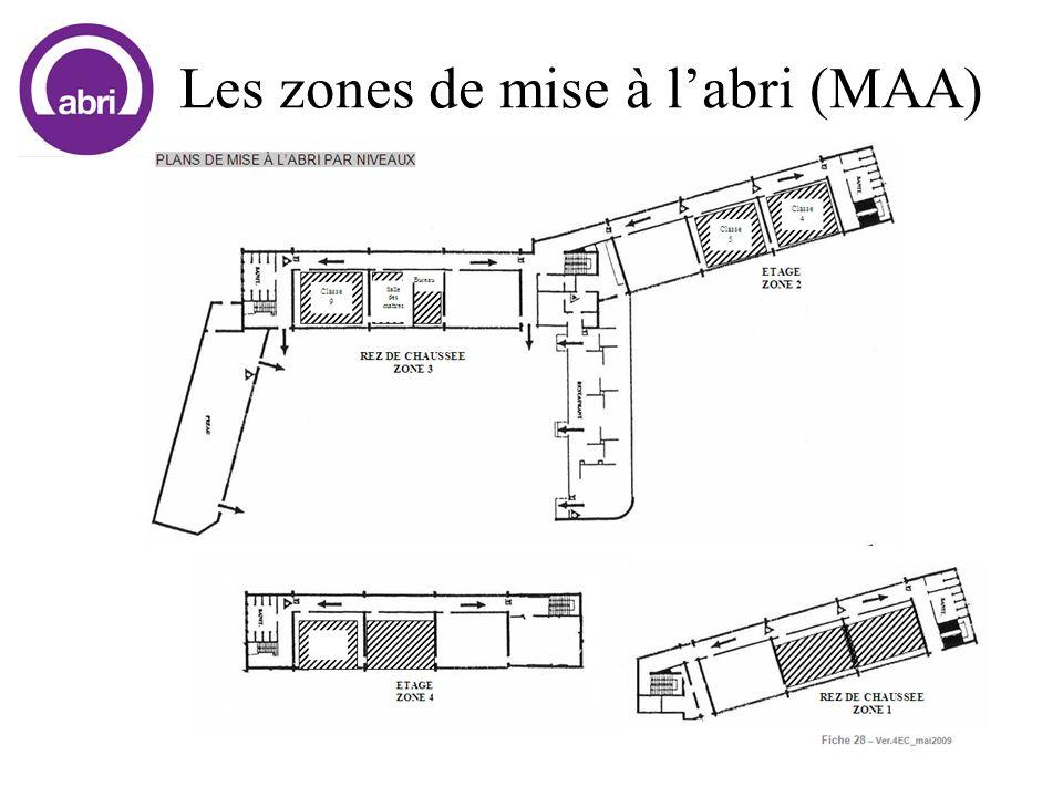 Les zones de mise à l'abri (MAA)