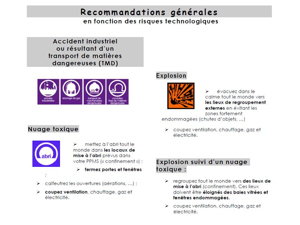 Recommandations générales (risques technologiques)