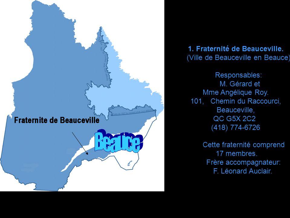 Beauce 1. Fraternité de Beauceville. (Ville de Beauceville en Beauce)