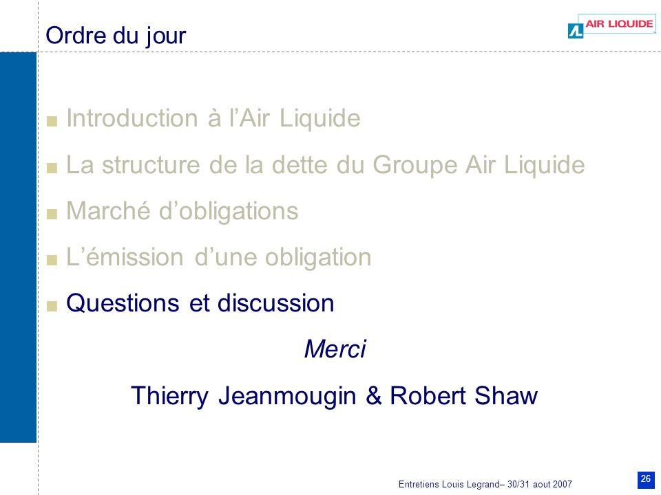 Thierry Jeanmougin & Robert Shaw