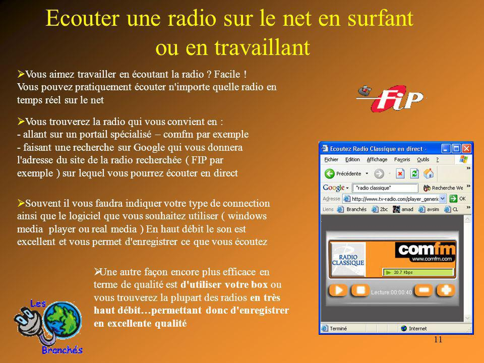 Ecouter une radio sur le net en surfant ou en travaillant
